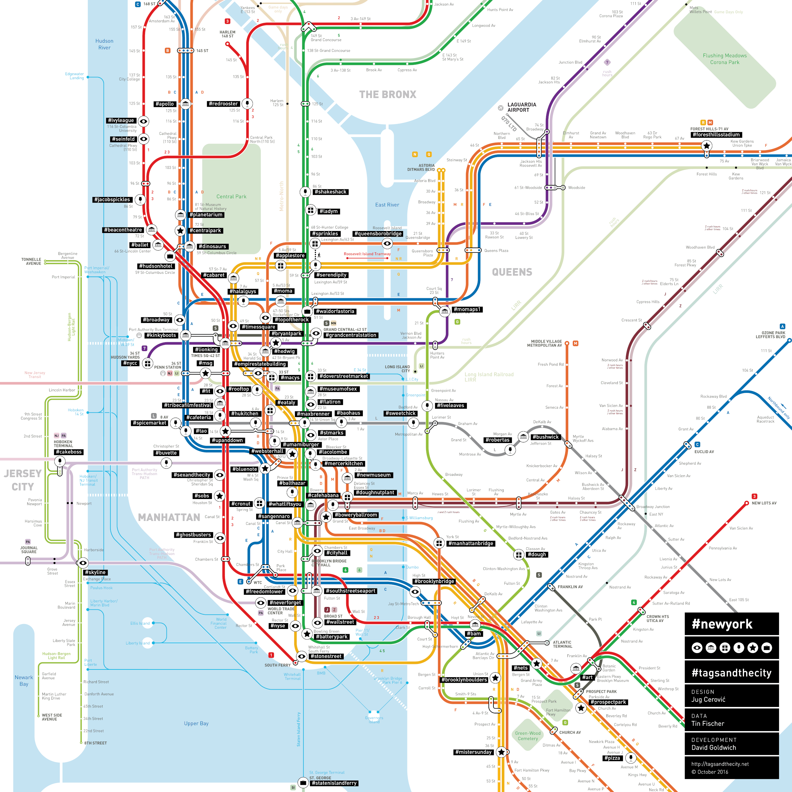 Tagsandthecity  New York - Nyc map with neighborhood names